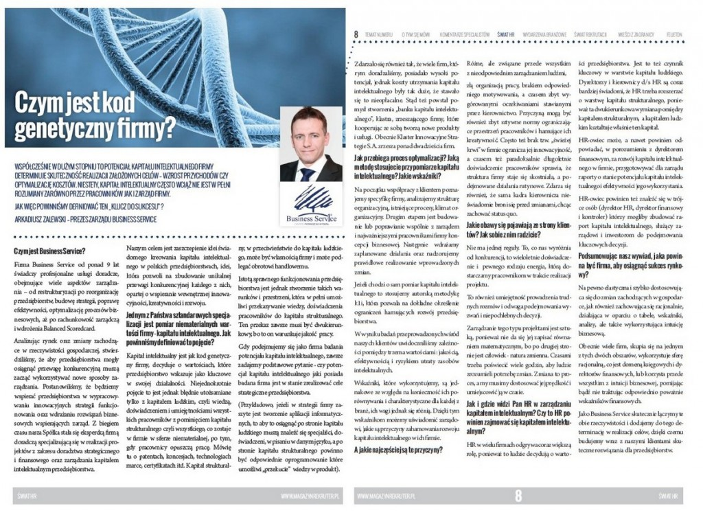 Czym jest kod genetyczny firmy - Arkadiusz Zalewski Ekspert Kapitału Intelektualnego