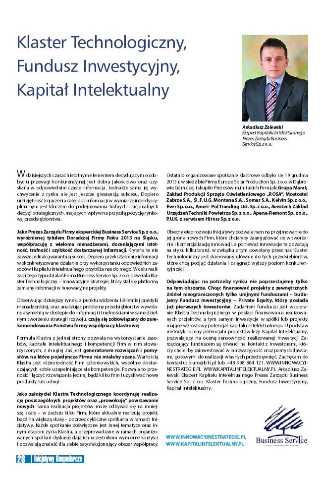 Innowacje, wsparcie, Kapitał Intelektualny-Arkadiusz Zalewski